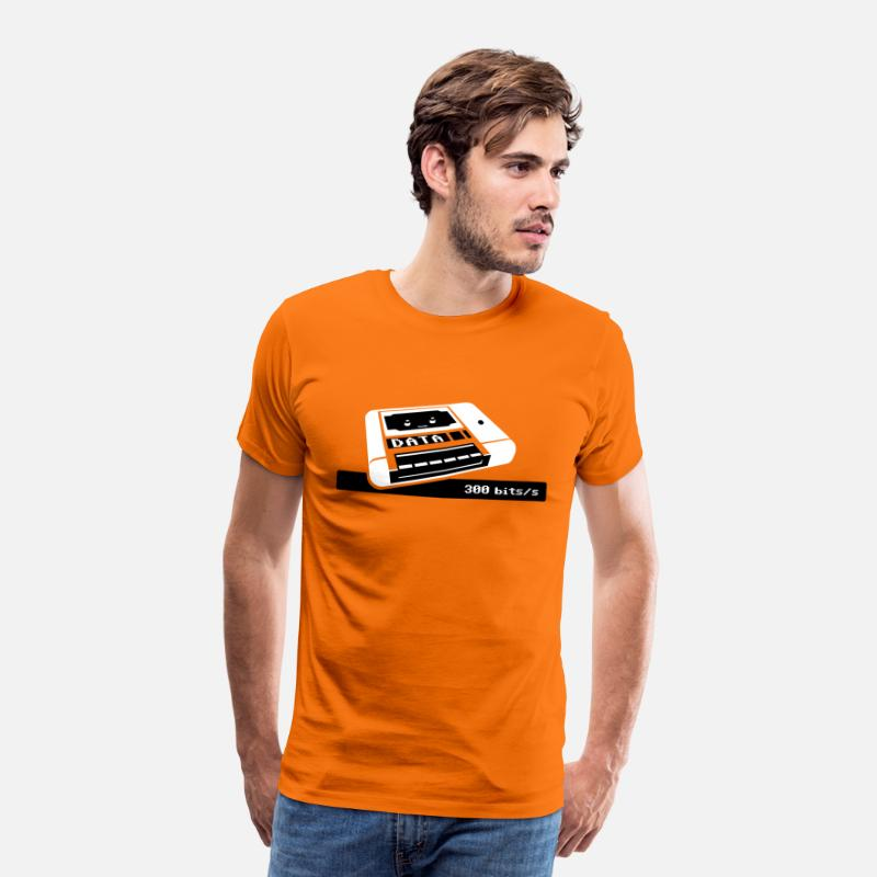 C64 T-Shirts - C64 Datasette Love - Men's Premium T-Shirt orange