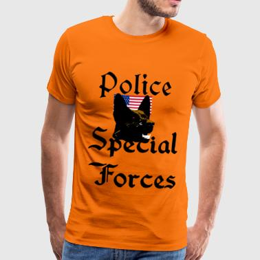 Police dog, Sheepdog, USA, - Men's Premium T-Shirt