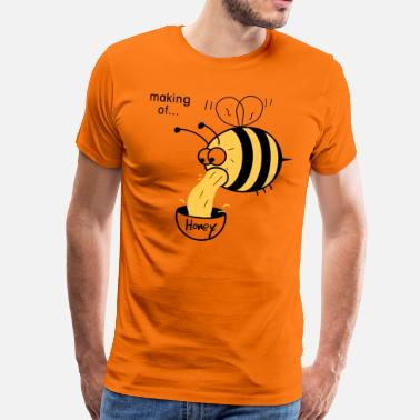 Making of Honey :-) Bee - Mannen Premium T-shirt