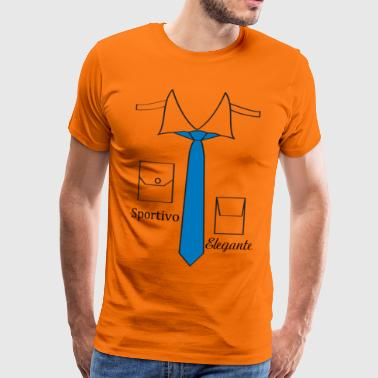 Italian Design shirt design with Italian tie - Men's Premium T-Shirt