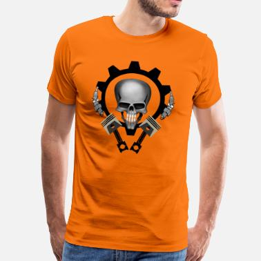 Skull Piston Piston Skull - Men's Premium T-Shirt