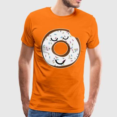 Donut with crumble nibbled - Men's Premium T-Shirt