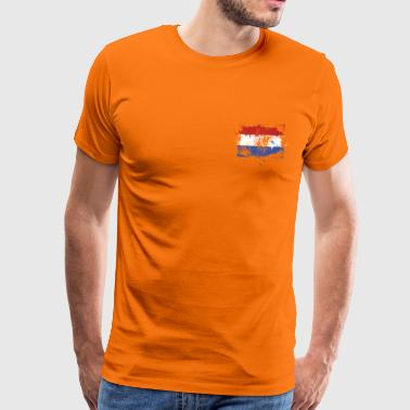 Dutch Dutch flag grunge graffiti style Orange pride - Men's Premium T-Shirt