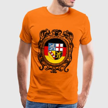 Saarland coat of arms - Men's Premium T-Shirt