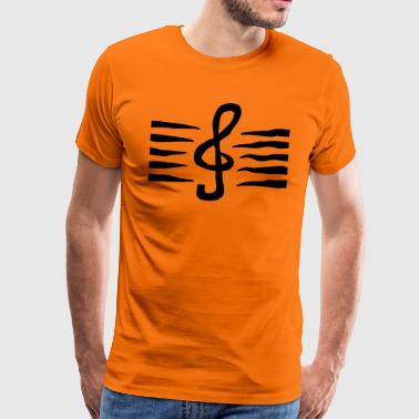 Music clef staves - Men's Premium T-Shirt