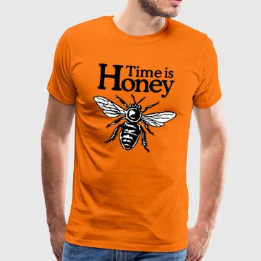 Time Is Honey Beekeeper Quote Design (two-color) - T-shirt Premium Homme
