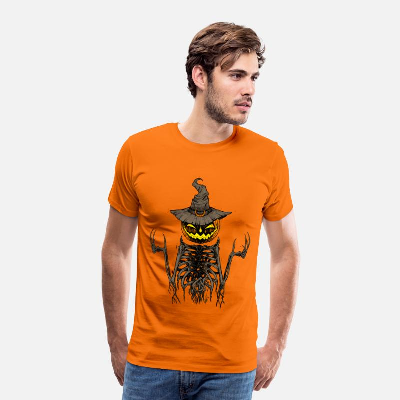 Terrifiant T-shirts - squelette Halloween - T-shirt premium Homme orange
