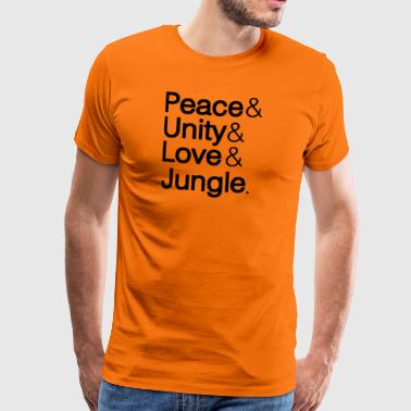 Unity Peace Unity Love Jungle - Men's Premium T-Shirt