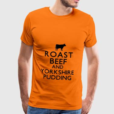 Roast Beef and Yorkshire Pudding - Men's Premium T-Shirt