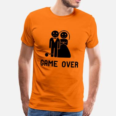 Game Vrijgezellenfeest game over! - Mannen Premium T-shirt