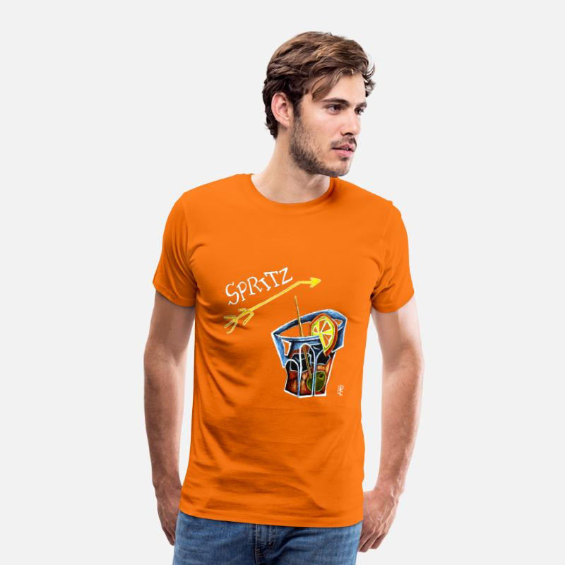 Bitter T-Shirts - Spritz Aperol Party T-shirts Venice Italy - Energy Drink - Men's Premium T-Shirt orange