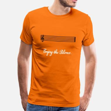 Silence enjoy the silence - Mannen Premium T-shirt