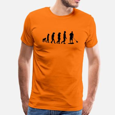 Stand Evolution, Sup, standing paddling, surfing, surfing Supen, Stand up paddle surfing - Men's Premium T-Shirt