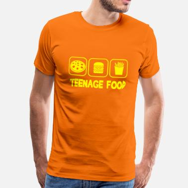 Teenager Teenage food - T-shirt Premium Homme