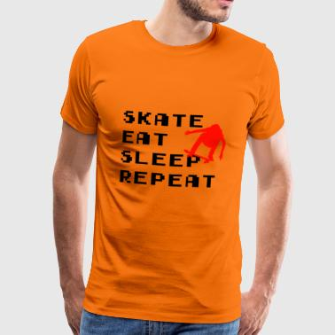 Skate Eat Sleep Repeat - Mannen Premium T-shirt