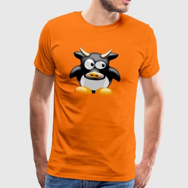 Funny cow with horns - Men's Premium T-Shirt