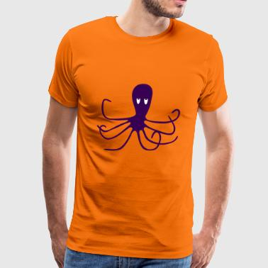 Calamari squid giant octopus octopus octopus squid sepia fish - Men's Premium T-Shirt