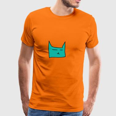 chat turquoise - T-shirt Premium Homme
