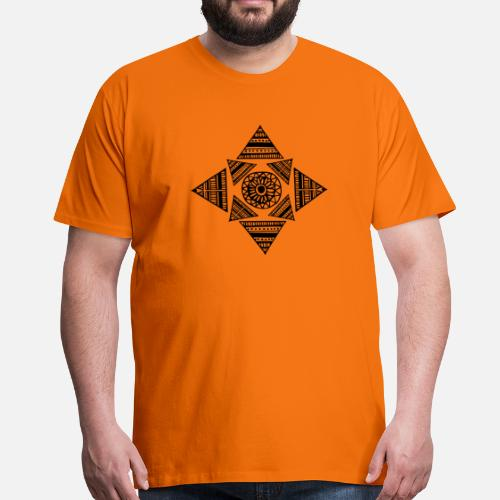 Tronc Formes Tatouage Triangle Maori Tribu Yeux T Shirt Premium