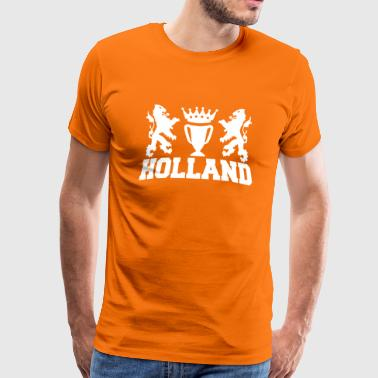 Dutch Oranje Support holland twee leeuwen bekeren kroon - Men's Premium T-Shirt