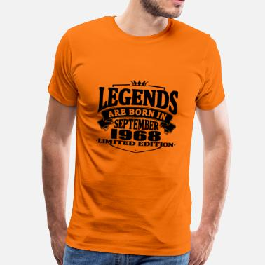September 1968 Legenden worden geboren in september 1968 - Mannen Premium T-shirt