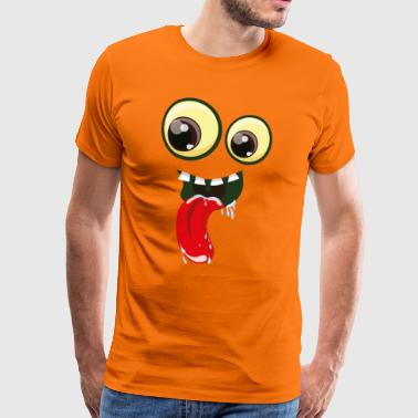 Eyes with mouth and tongue - Men's Premium T-Shirt