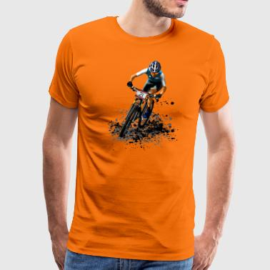 mountainbike - Mannen Premium T-shirt