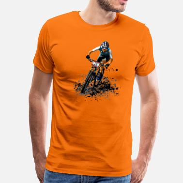 Mountainbiken mountainbike - Mannen Premium T-shirt