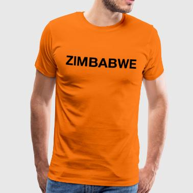ZIMBABWE Word logo - Men's Premium T-Shirt
