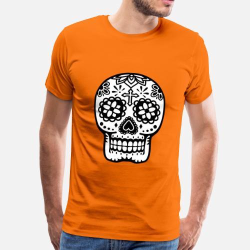 t te de mort t shirt premium homme spreadshirt. Black Bedroom Furniture Sets. Home Design Ideas