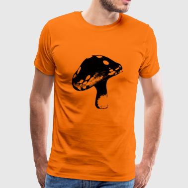 Flying - Mushroom Nature Logo Design - Men's Premium T-Shirt