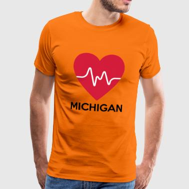 heart Michigan - Men's Premium T-Shirt
