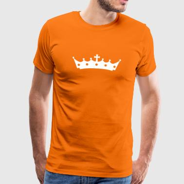 Crown with Cross - Männer Premium T-Shirt