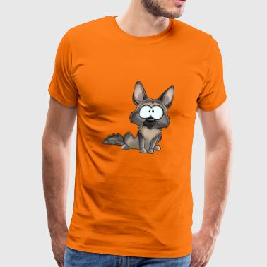 I Am German Shepherd Gray - Premium-T-shirt herr