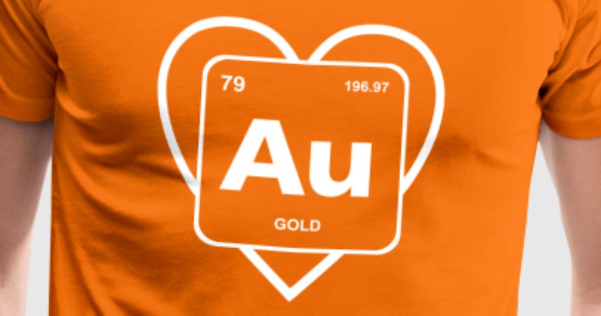 Heart Of Gold Periodic Table Element Genius By Fancyteedesigns
