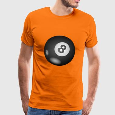 pool Billards biljard snooker kö bollen Sport4 - Premium-T-shirt herr