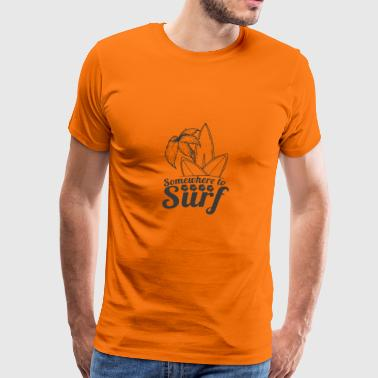 surfing Surfer - Men's Premium T-Shirt