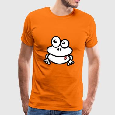 Cartoon Frog Frog cartoon comic style - Men's Premium T-Shirt