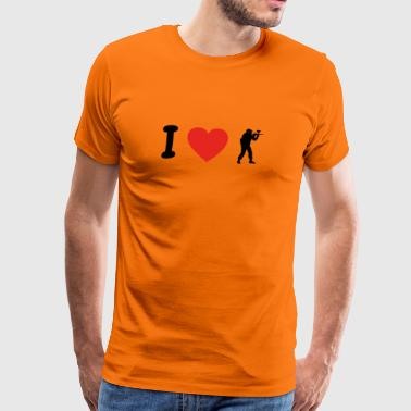 I love paintball softair png - Men's Premium T-Shirt