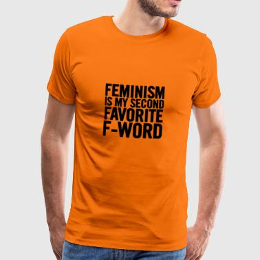 Feminism Is My Second Black - Men's Premium T-Shirt