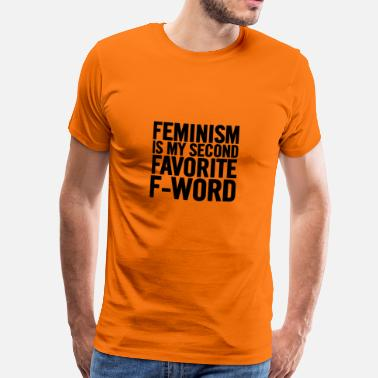 Amendment Feminism Is My Second Black - Men's Premium T-Shirt