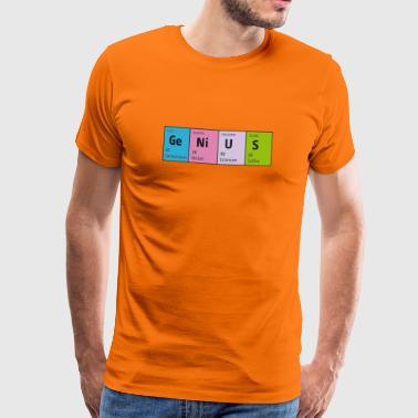 Periodensystem GeNiUS genial Nerd is the new sexy - Männer Premium T-Shirt