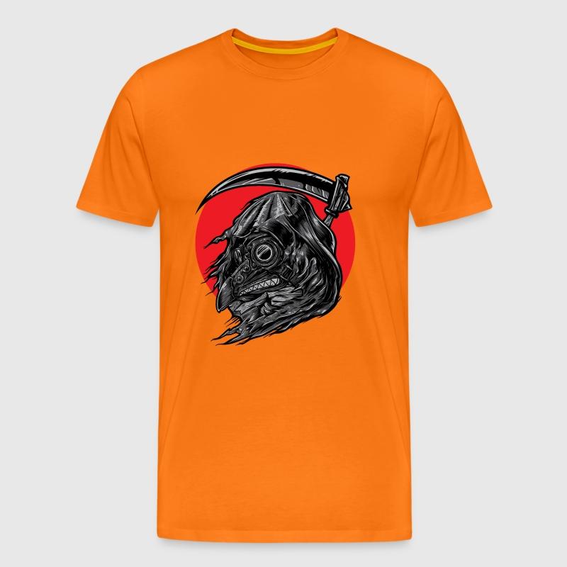 Schnitter Vogel Männer Premium T-Shirt - Orange