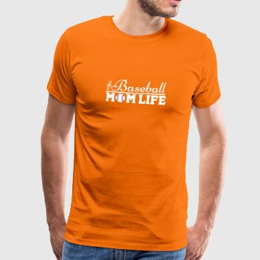 Leuke #Baseball Mom Life T-shirt - Mannen Premium T-shirt