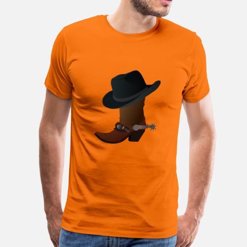 Vaquero ranchero wester caballo guardabosques sheriff camiseta premium  hombre spreadshirt jpg 500x500 Rancheros de 35 hombres d26c61a38a7
