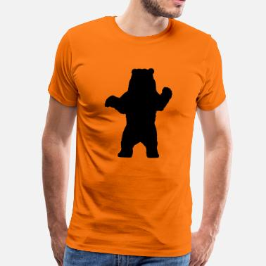 Animal Print bear animal - Mannen Premium T-shirt