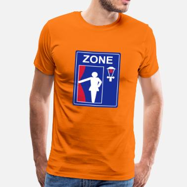 Red Light District Verkehrszeichen Prostitution Zone - Männer Premium T-Shirt