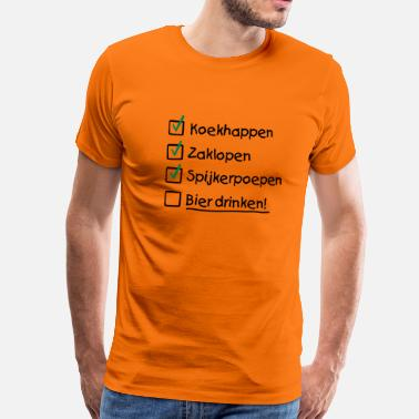 Koekhappen To do list Koninginnedag - Mannen Premium T-shirt
