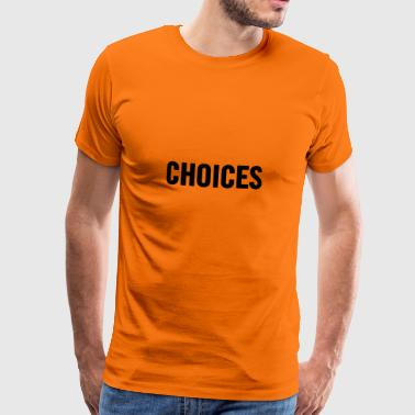 Choices Svart - Premium T-skjorte for menn