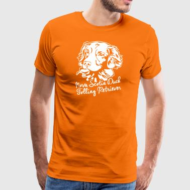 Nova Scotia Duck Tolling Retriever PORTRAIT - Men's Premium T-Shirt